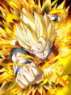 Leaping Ever Higher Super Saiyan Goku