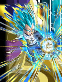 Burning Fury Super Saiyan God SS Vegeta