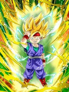 Courage Awakened Super Saiyan Goku Jr.