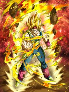 Burning Soul Super Saiyan Bardock